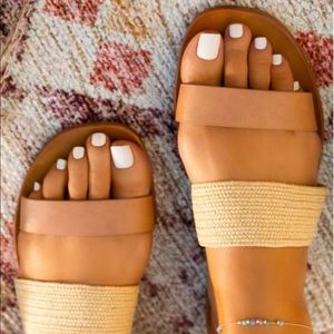 Lagertha Double Strap Woven Casual Sandals
